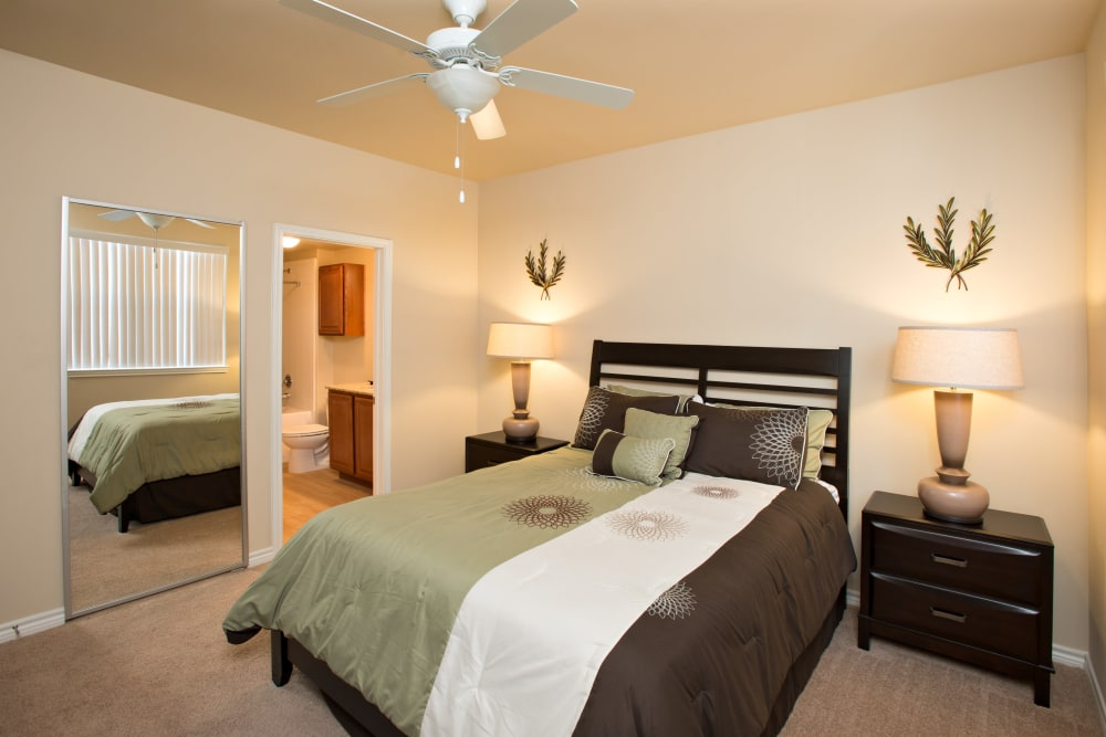 beautiful bedroom at Villas in Westover Hills in San Antonio, Texas