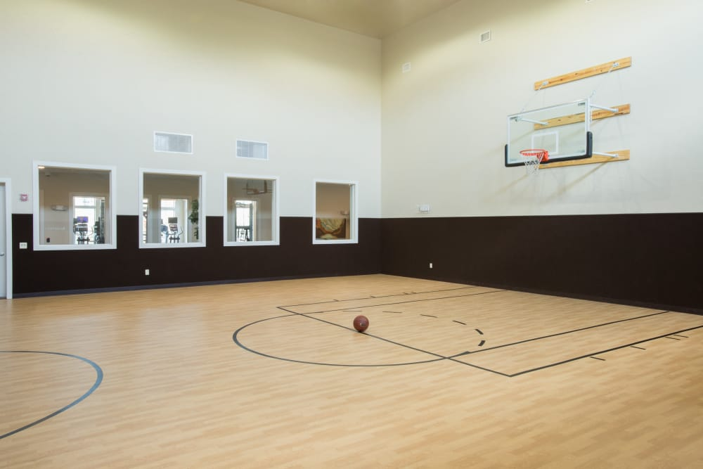 Newly renovated basketball court at Villas in Westover Hills in San Antonio, Texas