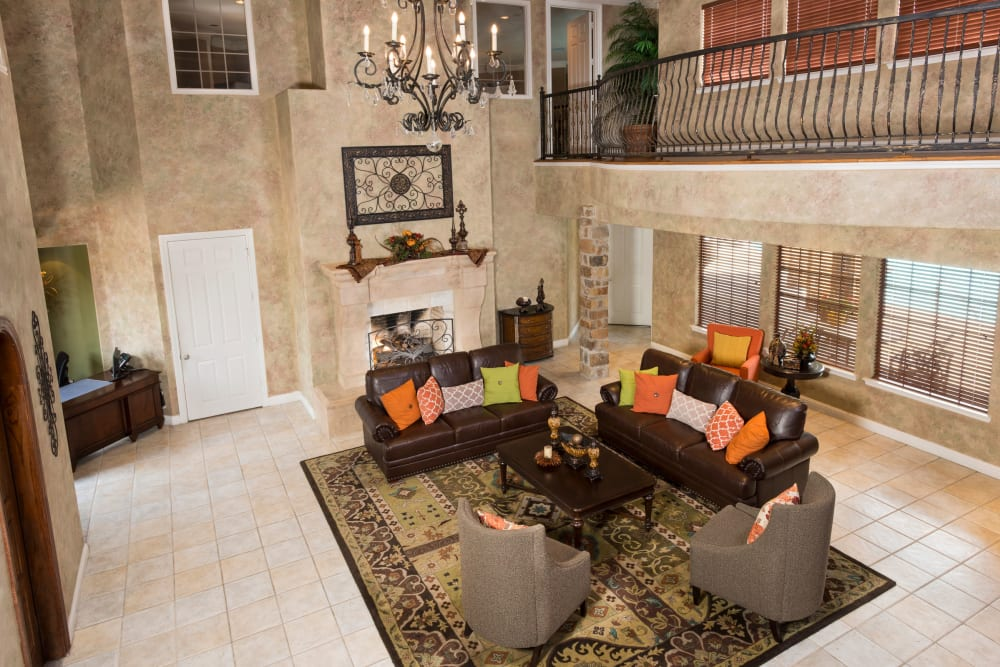 Luxury resident clubhouse at Villas at Parkside in Farmers Branch, Texas