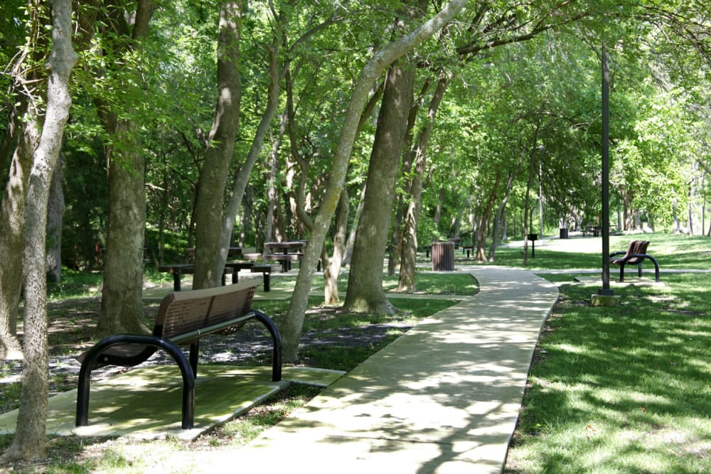 Nearby park at Villas at Parkside in Farmers Branch, Texas