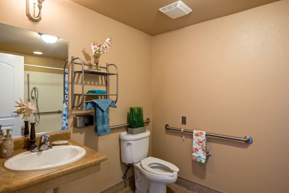 Bathroom at Pacifica Senior Living Modesto in Modesto, California