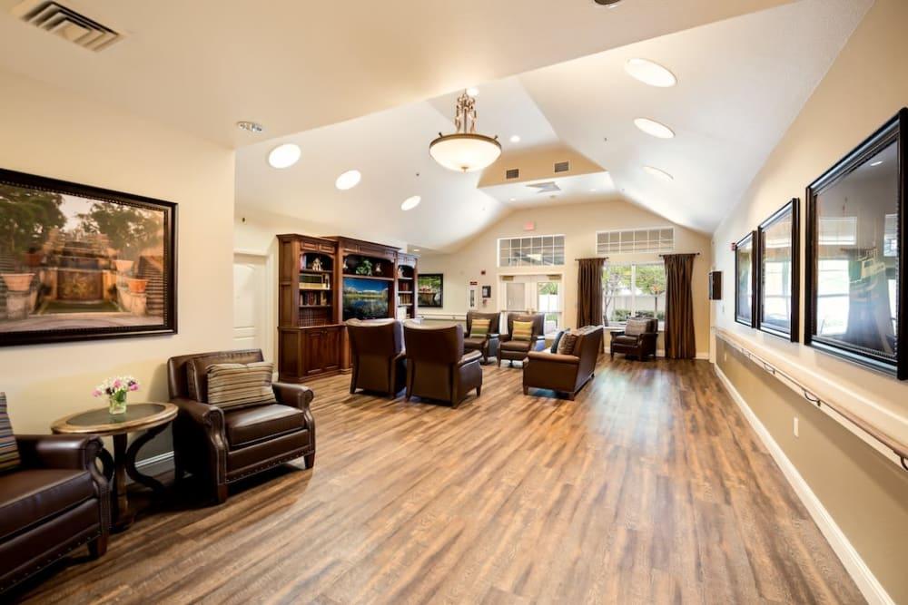 Common room at Pacifica Senior Living Modesto in Modesto, California