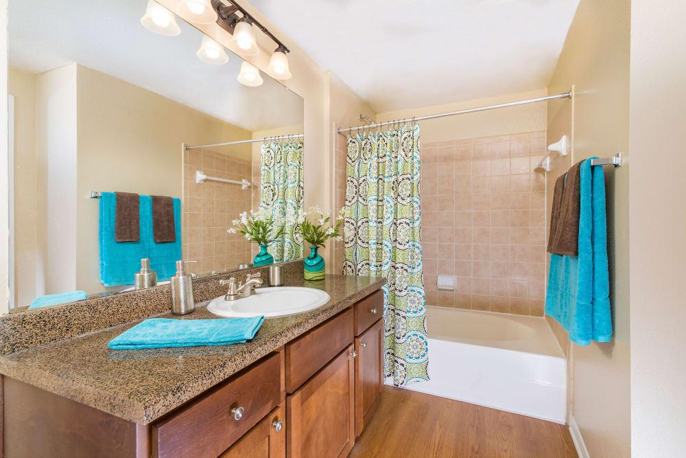 Bathroom at Villas at Medical Center in San Antonio, Texas