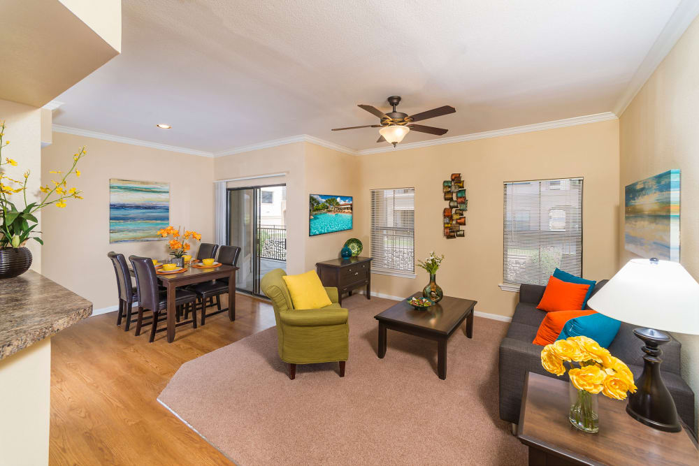 Living room at Villas at Medical Center in San Antonio, Texas