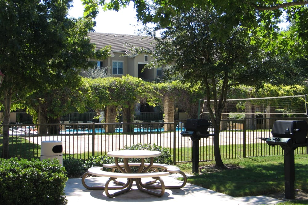 BBQ area close to sand at Villas at Oakwell Farms in San Antonio, Texas