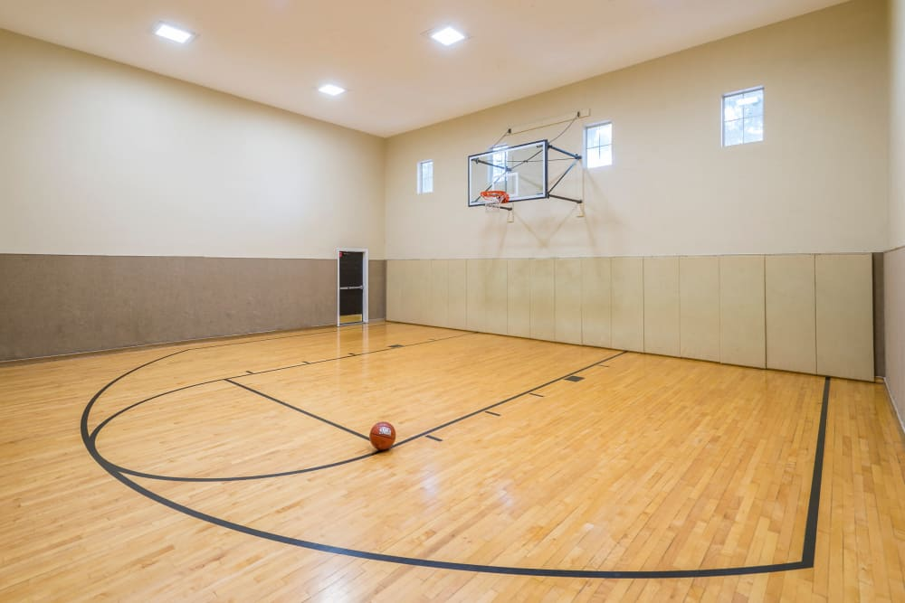 newly renovated basketball court at Villas at Oakwell Farms in San Antonio, Texas