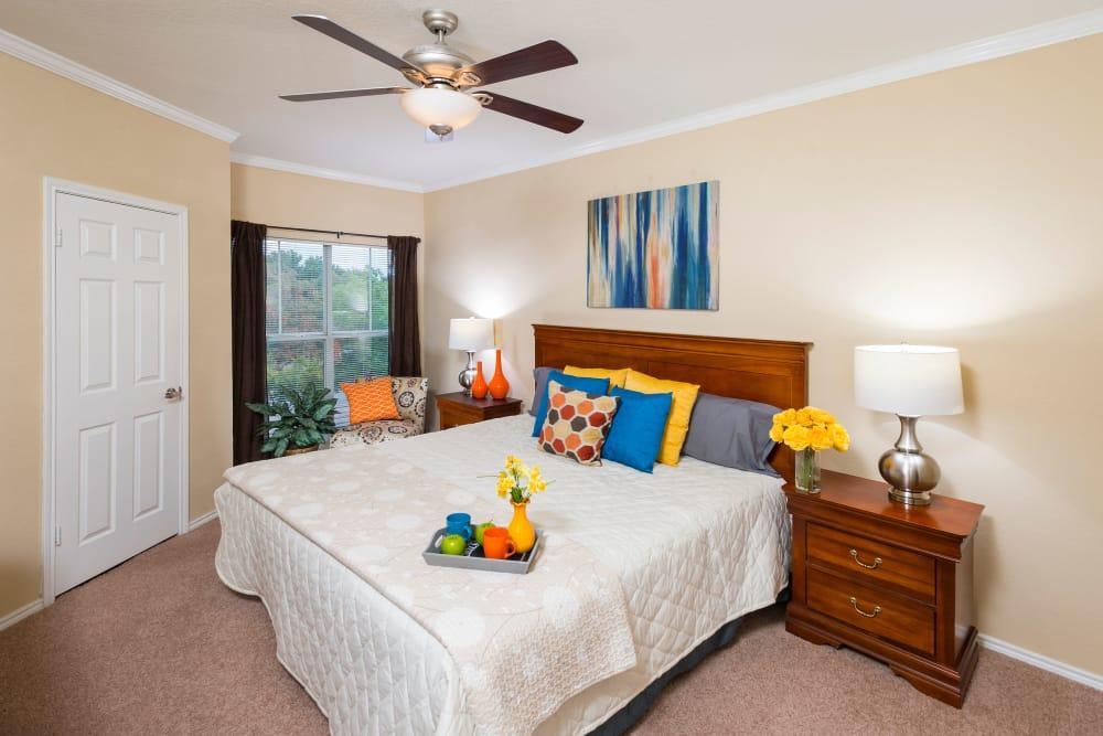 Comfortable Bedroom at Villas at Oakwell Farms in San Antonio, Texas