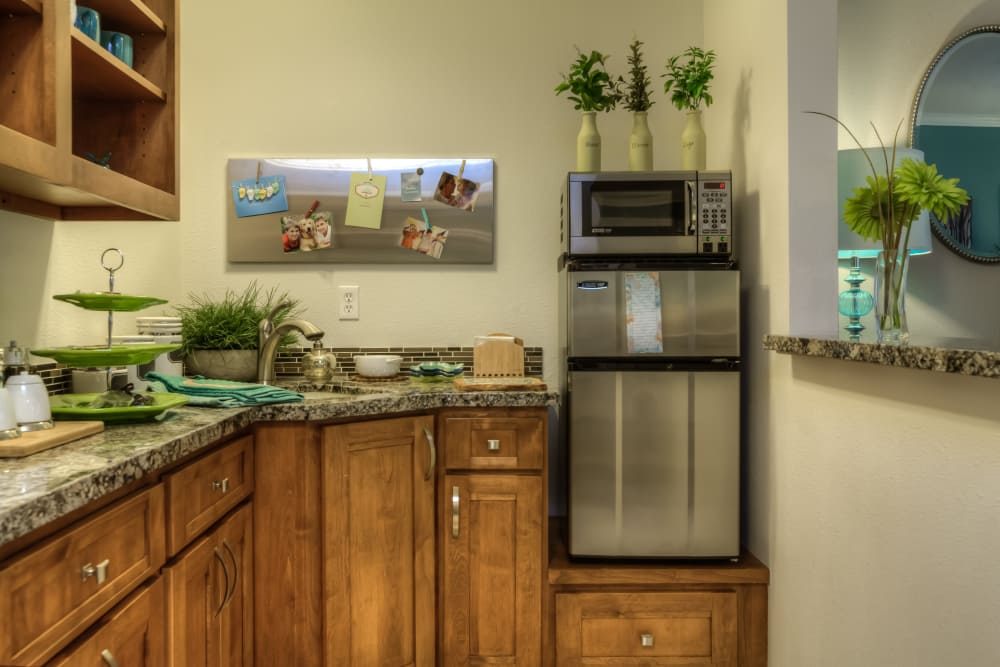 Renovated kitchen at Regency Park in Portland, Oregon