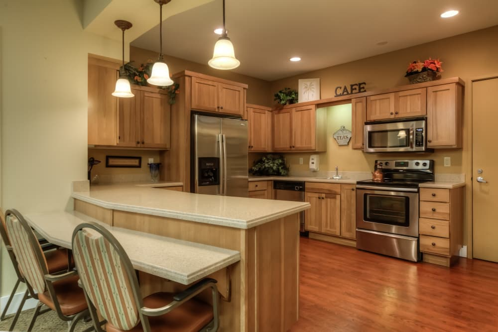Our senior apartments in Portland, Oregon offer a kitchen in Portland, Oregon