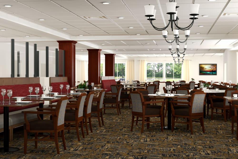 Dining room rendering at Pine Grove Crossing in Parker, Colorado