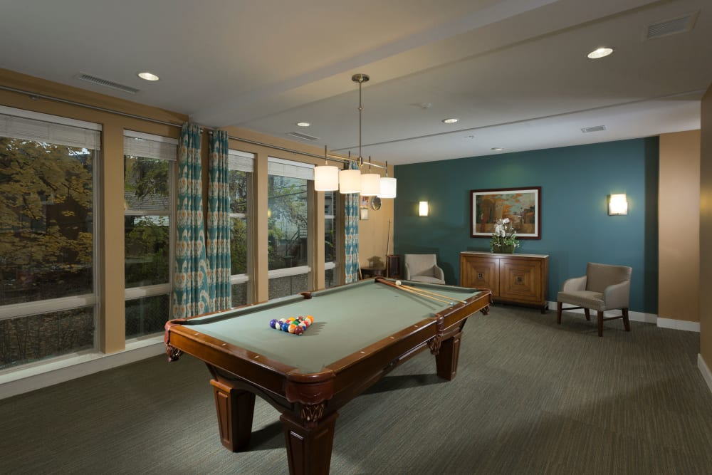 Game room at Renaissance Gardens in Baltimore, Maryland
