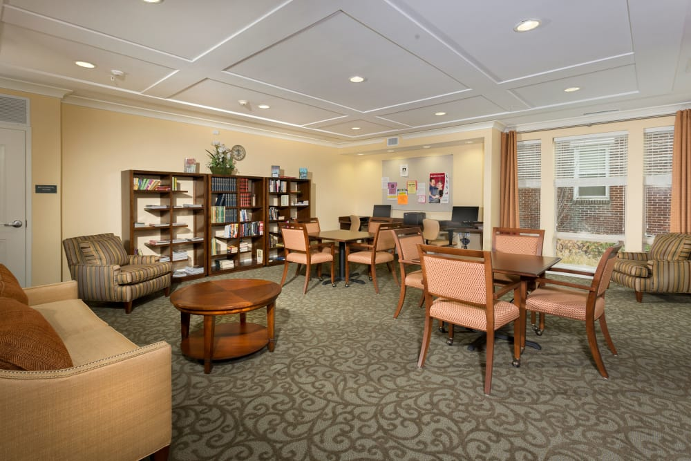 Library at Renaissance Gardens in Baltimore, Maryland