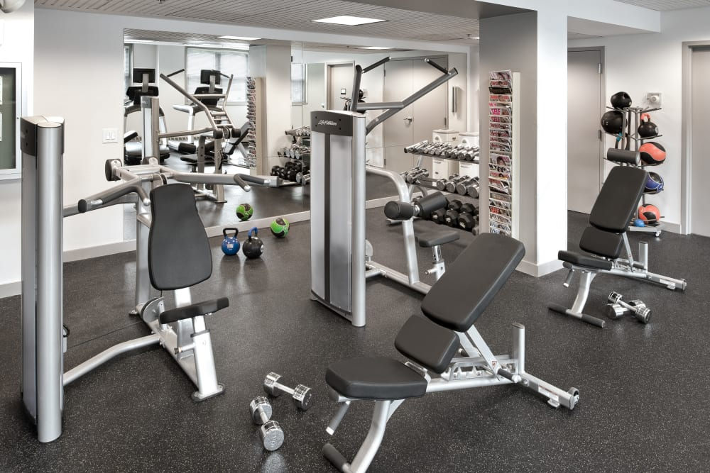 Fitness center at Parkside Place in Cambridge, Massachusetts