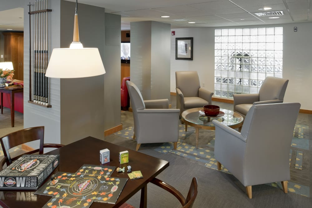 Clubhouse area at Parkside Place in Cambridge, Massachusetts