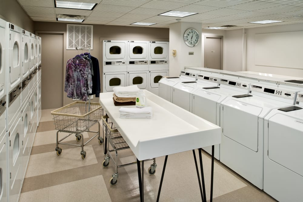 Laundry center at Parkside Place in Cambridge, Massachusetts