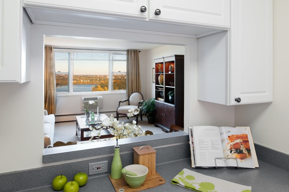 Kitchen counter at Parkside Place in Cambridge, Massachusetts