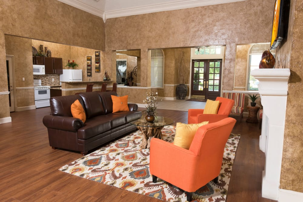 Well decorated clubhouse at Briargrove at Vail in Dallas, Texas