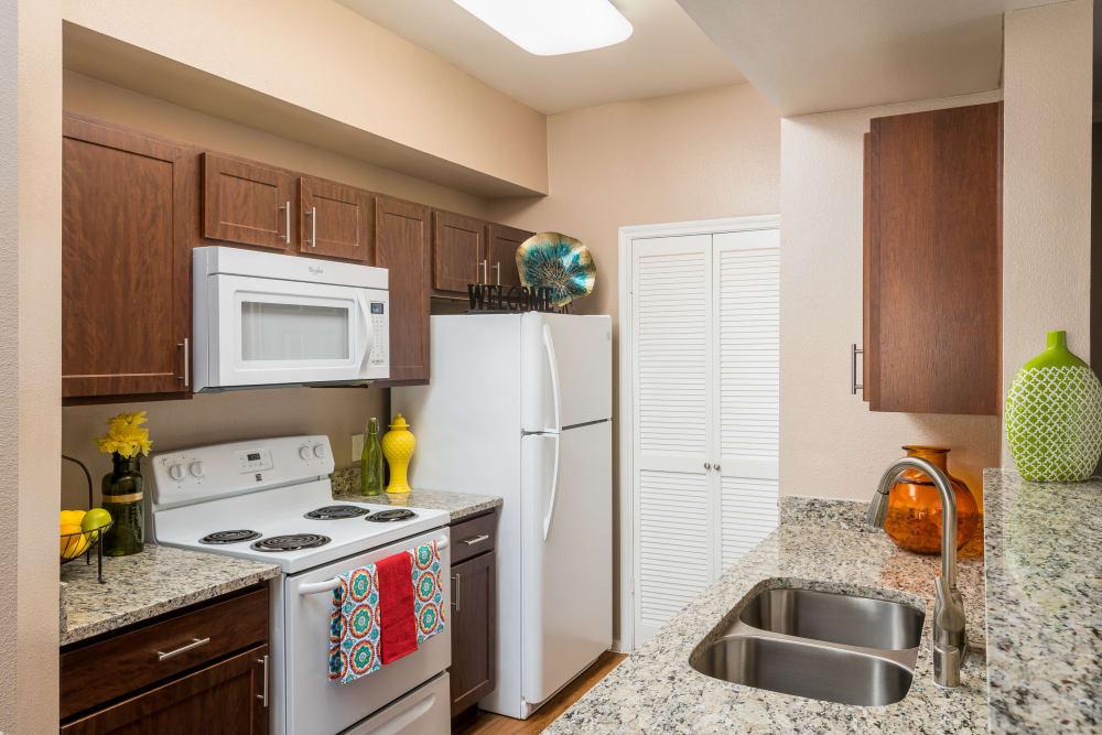 Newly renovated kitchen at Briargrove at Vail in Dallas, Texas