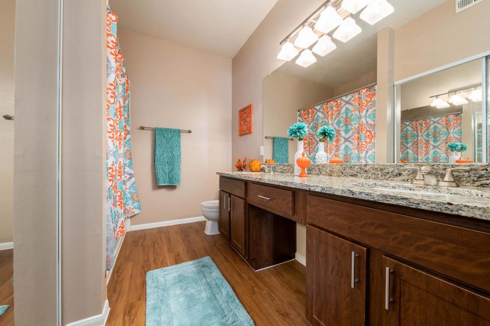 Spacious bathroom at Briargrove at Vail in Dallas, Texas