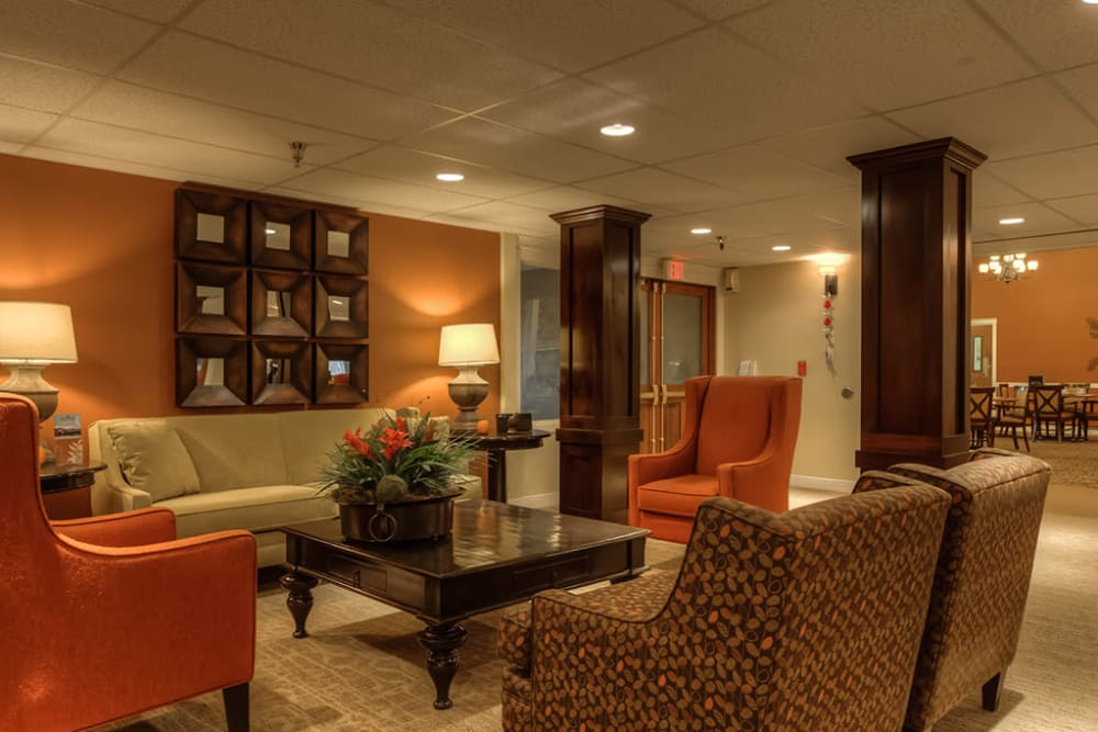 Spacious living room at Royalton Place in Milwaukie, OR