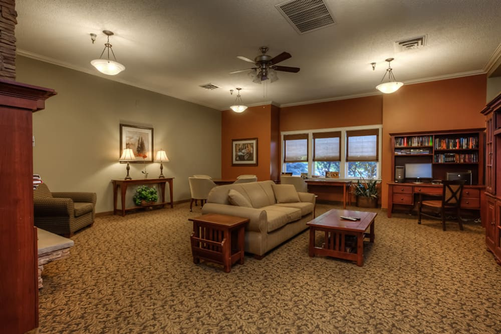 Cozy common area and media room at Royalton Place in Milwaukie, OR