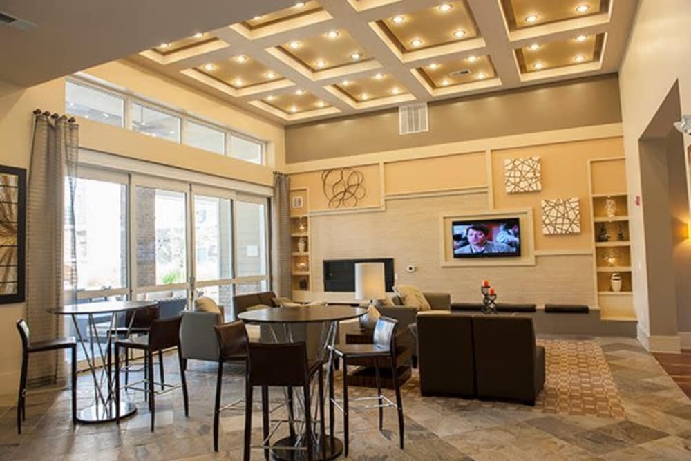 Luxurious clubhouse at Sterling Town Center in Raleigh, North Carolina