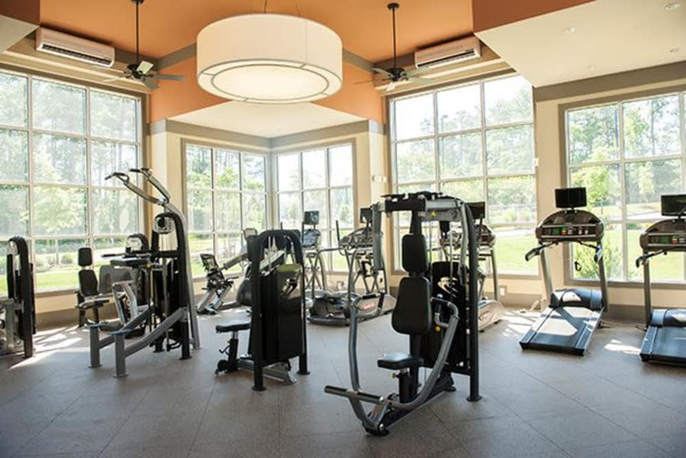 Sterling Town Center offers a modern fitness center in Raleigh, North Carolina