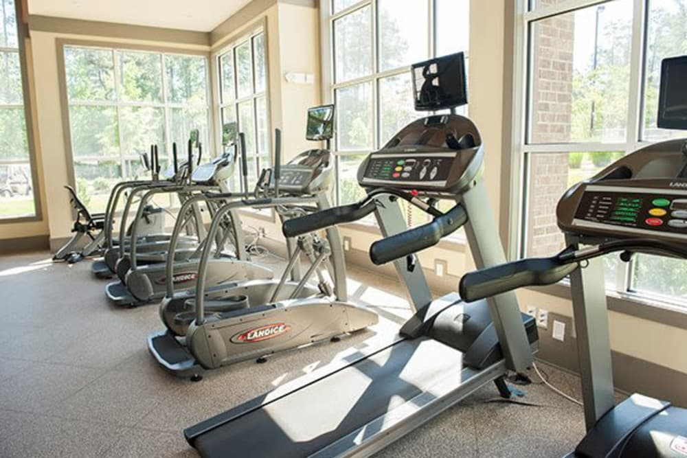 State-of-the-art fitness center at apartments in Raleigh, North Carolina