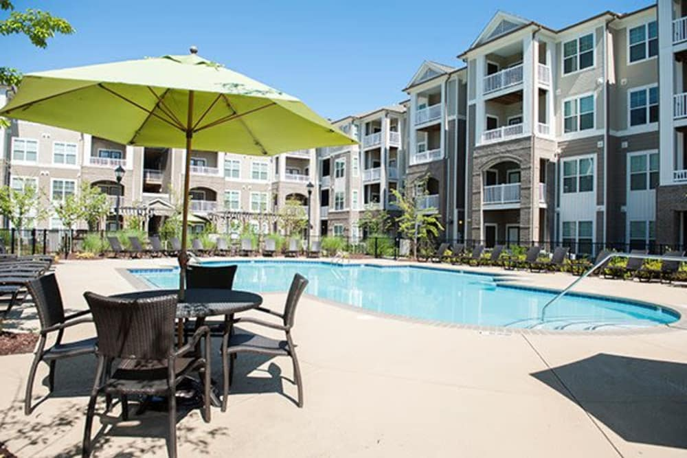 Our apartments in Raleigh, North Carolina showcase a luxury swimming pool