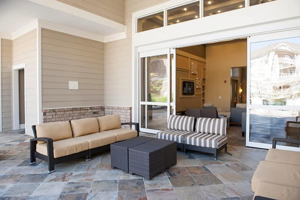 Outdoor seating apartments in Raleigh, North Carolina