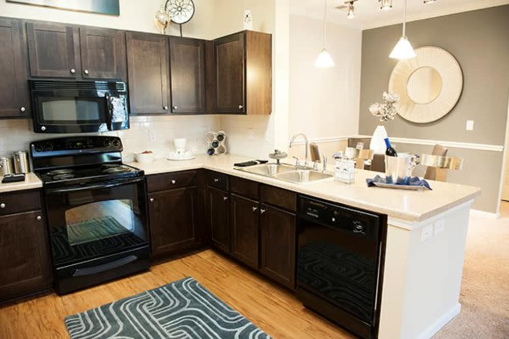 Our apartments in Raleigh, North Carolina showcase a luxury kitchen