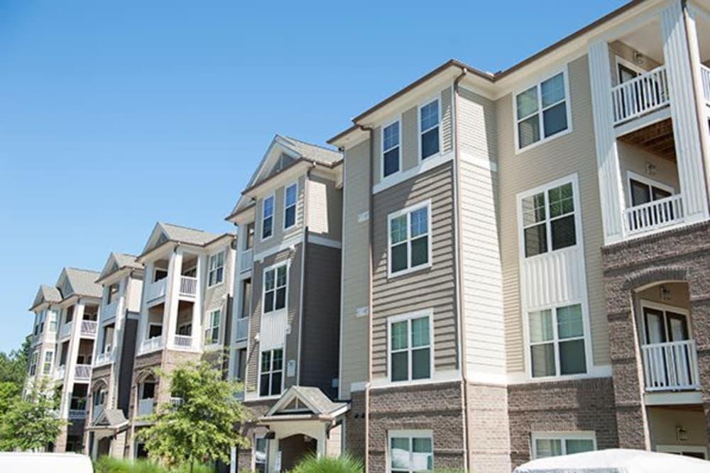 Exterior view at apartments in Raleigh, North Carolina