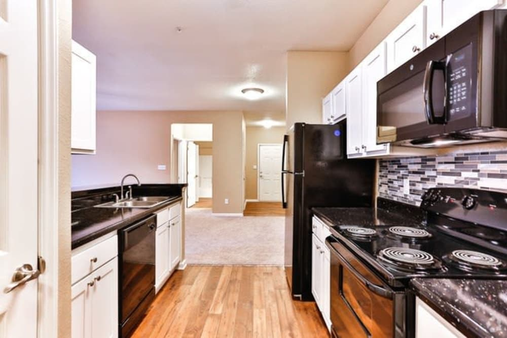 The Madison offers a luxury kitchen in Charlotte, North Carolina