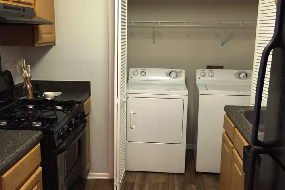 Washer and dryer at The Madison