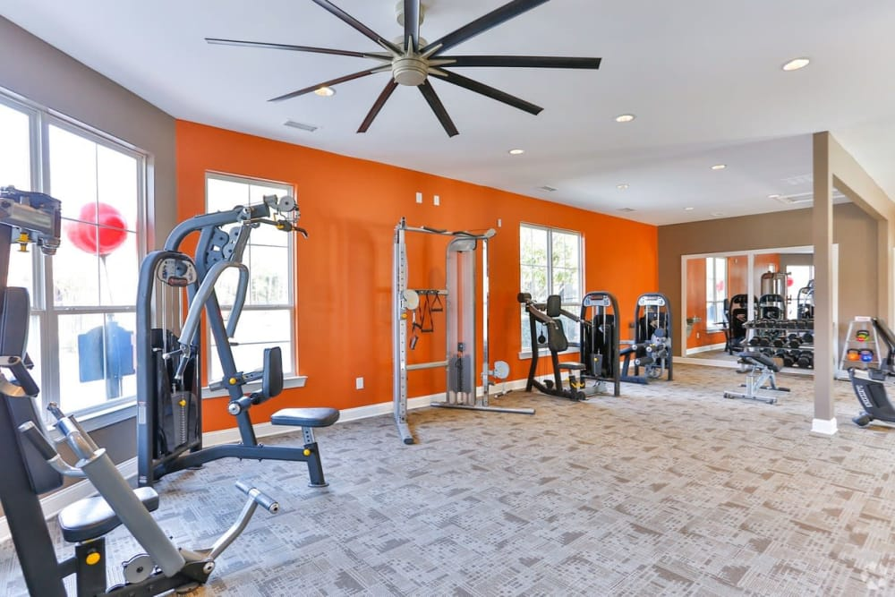 Our apartments in Charlotte, North Carolina showcase a modern fitness center