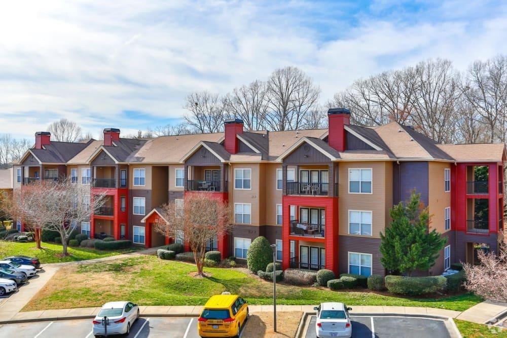 Exterior view at apartments in Charlotte, North Carolina
