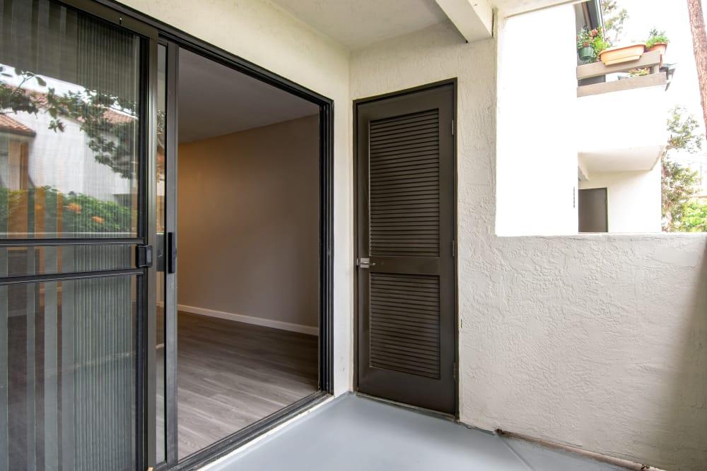 Enjoy your private patio at Avana La Jolla Apartments in San Diego, California