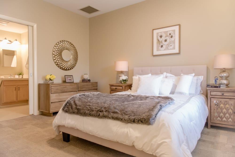Our spacious apartments in Chardon, Ohio showcase a bedroom