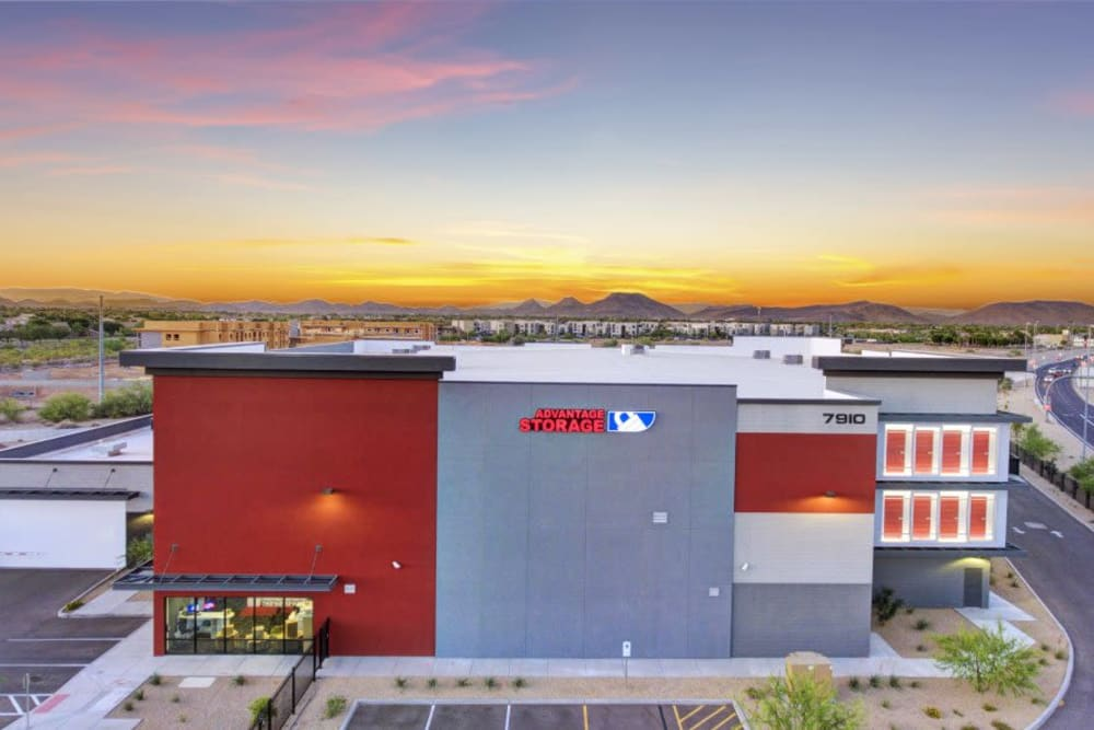 Aerial view of Advantage Storage - Glendale