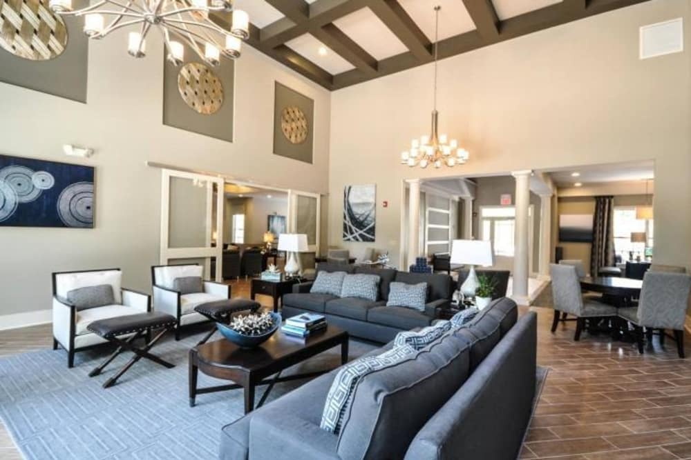 Spacious clubhouse at Arbor Village in Summerville, South Carolina