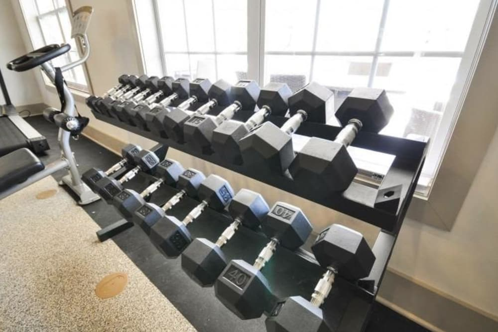 Enjoy our beautiful apartments fitness center at Arbor Village in Summerville, SC