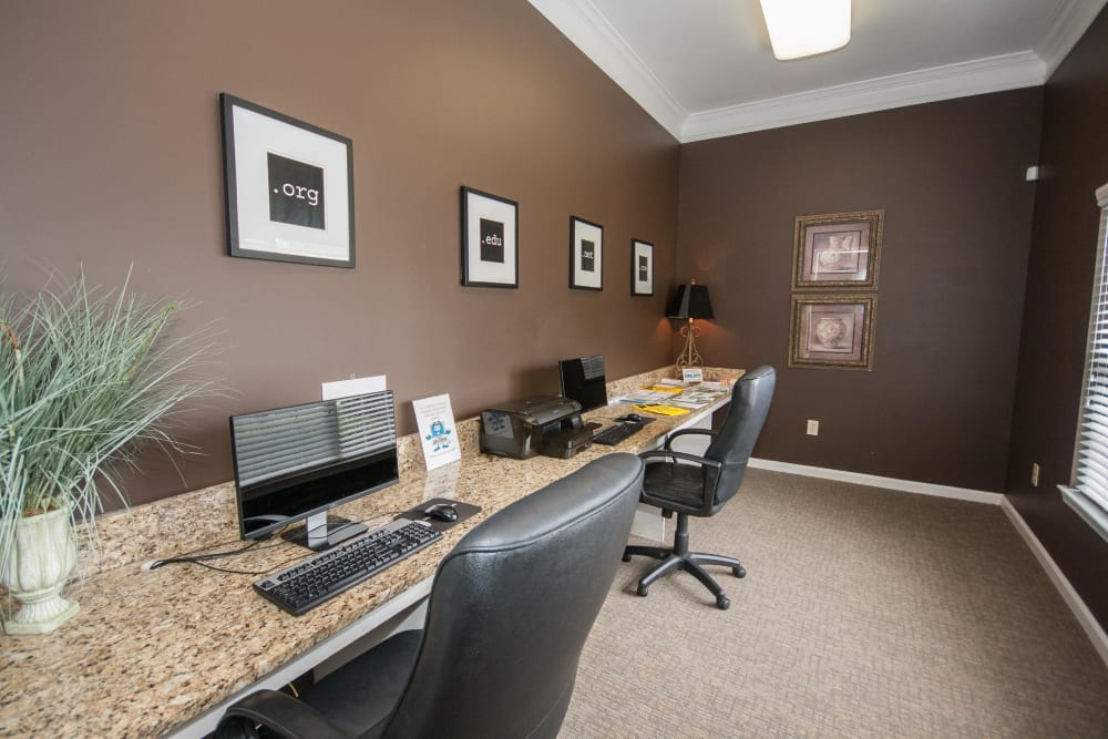 Business center at One Rocky Ridge Apartment Homes in Douglasville, Georgia
