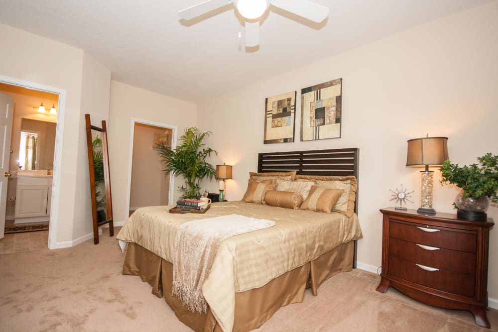 Our cozy apartments in Douglasville, Georgia showcase a bedroom