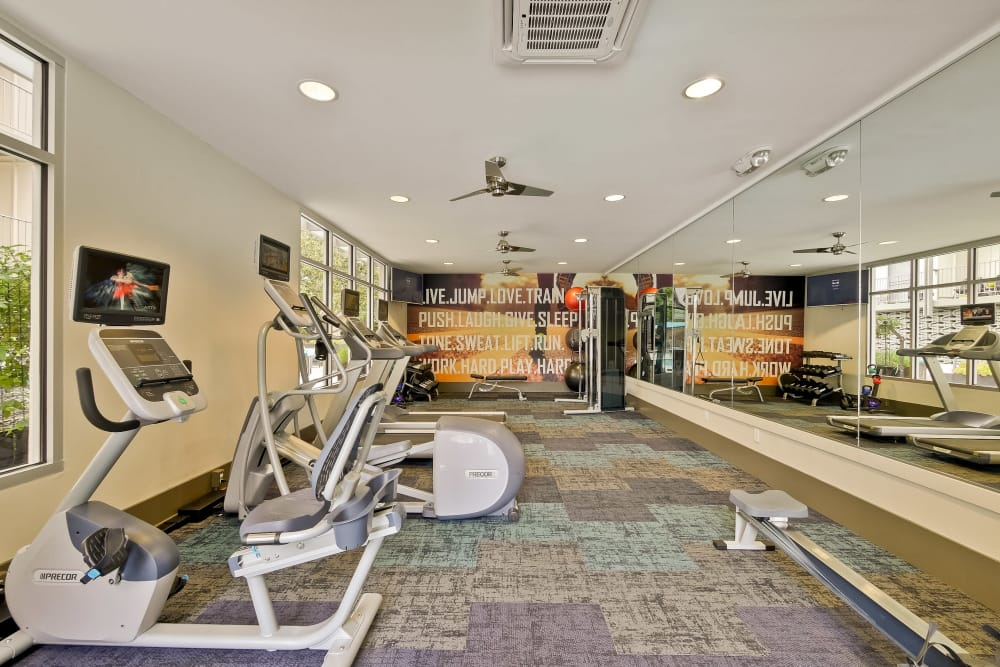 Gym and workout space at Mia in Palo Alto, CA