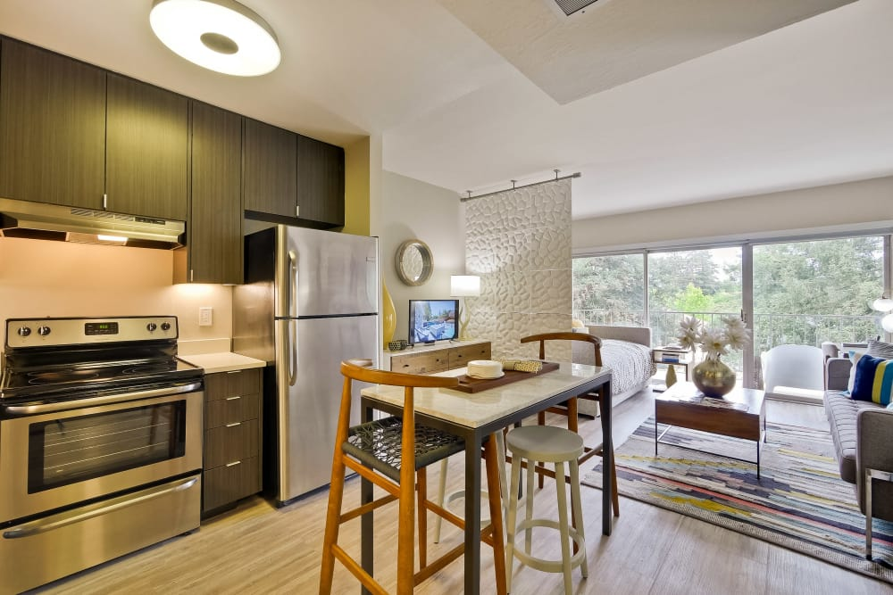 Spacious kitchen at apartments in Palo Alto, CA
