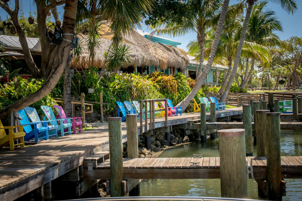 Seating on dock near The Sophia at Abacoa in Jupiter, Florida