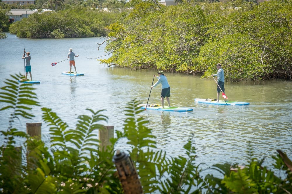 Residents paddle boarding near The Sophia at Abacoa in Jupiter, Florida