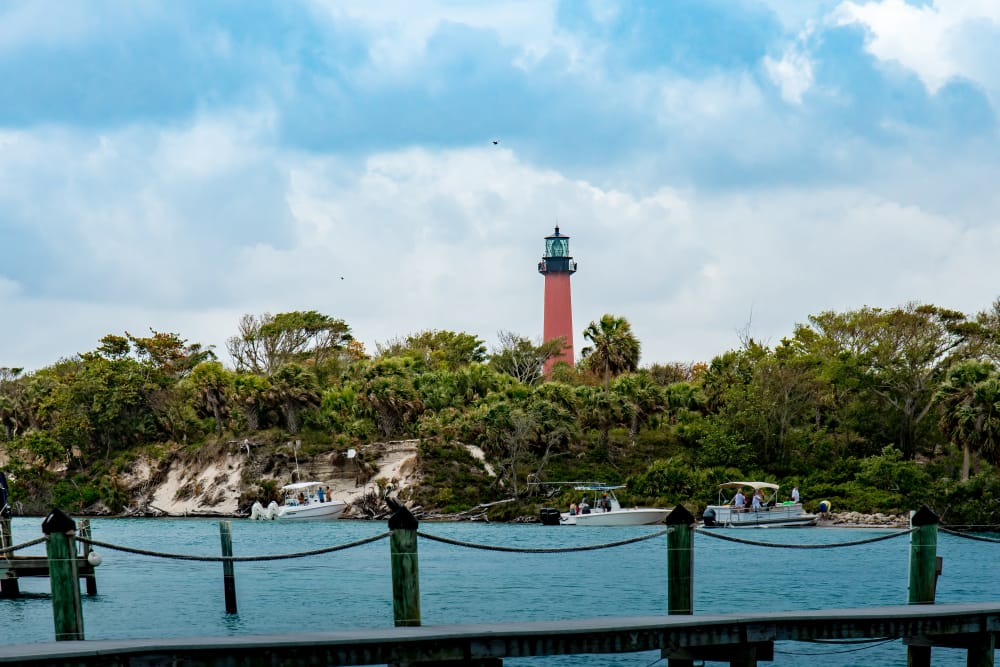 Lovely view of lighthouse near The Sophia at Abacoa in Jupiter, Florida