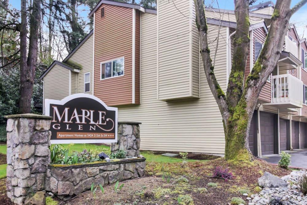 Exterior of Maple Glen Apartments in Mountlake Terrace, Washington