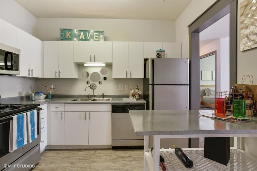 Beautiful kitchen at K Avenue Station in Plano, Texas